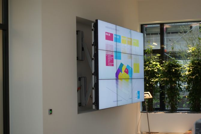 3x3 LCD wall, digital Signage